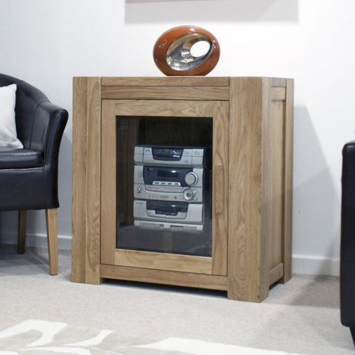 Trend Oak Glazed HiFi Unit