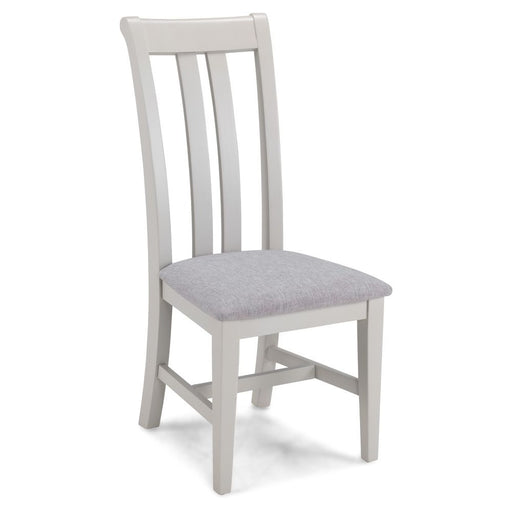 Oak And Grey Painted Upholstered Dining Chair