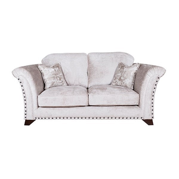 Edward Chesterfield Grey Plush Velvet 2 Seater Sofa