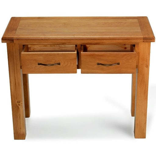 Earlswood Oak 2 Drawer Console Table