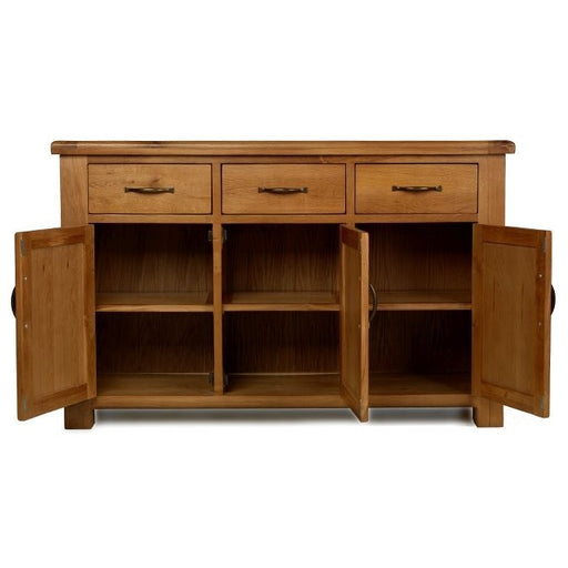 Earlswood Oak 3 Drawer 3 Door Sideboard - The Furniture Mega Store