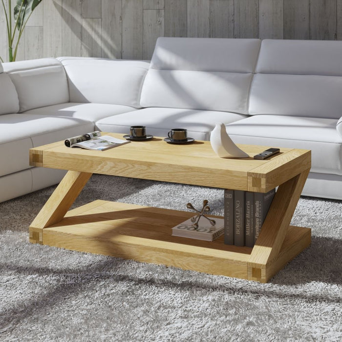 Solid Z Designer Oak Large Coffee Table