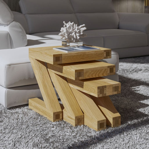 Solid Z Oak Nest Of Tables