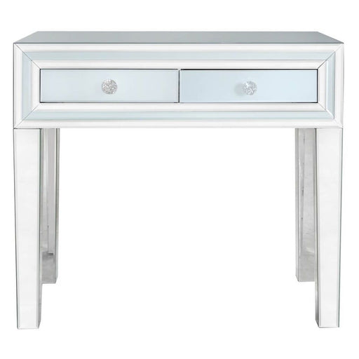 Ivy Grey Mirrored 2 Drawer Console Table