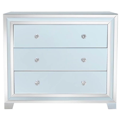 Ivy Grey Mirrored 3 Drawer Chest
