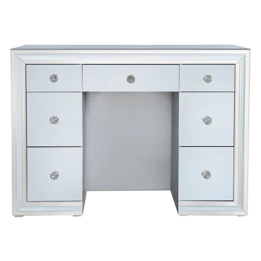Ivy Grey Mirrored Double Pedestal Dressing Table