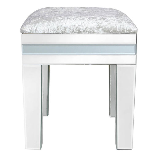 Ivy Grey Mirrored Dressing Table Stool