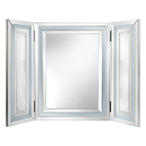 Ivy Grey Mirrored Triple Vanity Mirror