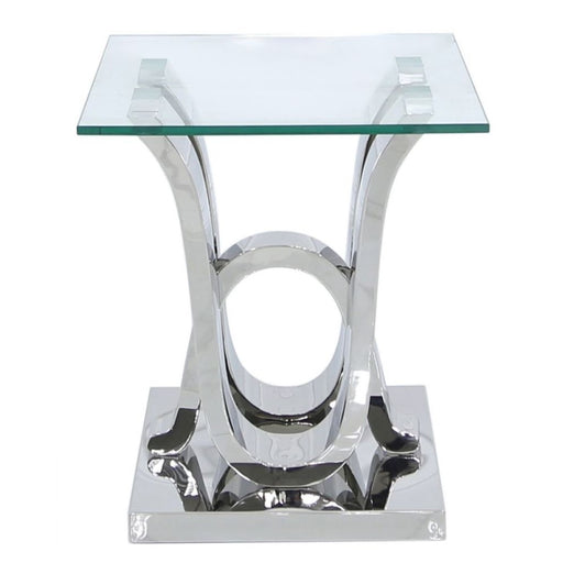 Tate Glass & Stainless Steel Side Table