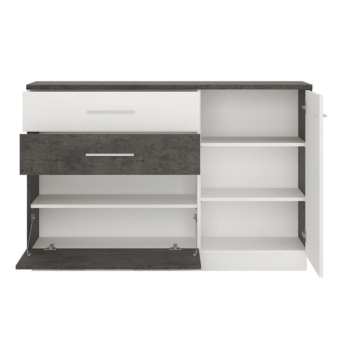 Stretto 1 door 2 drawer 1 compartment sideboard