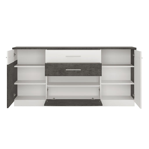 Stretto 2 door 2 drawer 1 compartment sideboard