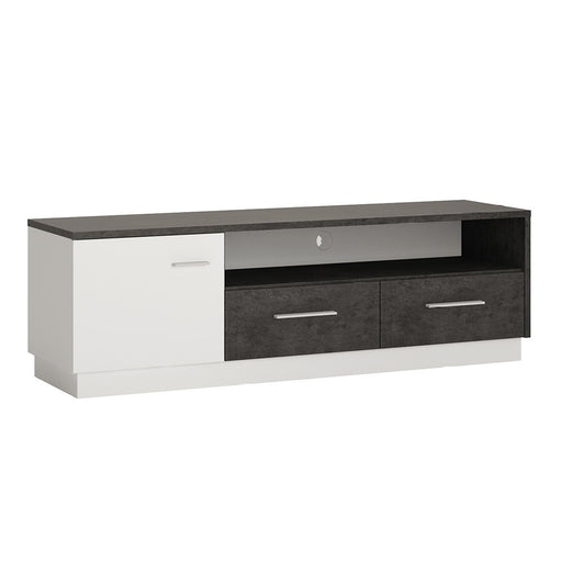 Stretto 1 door 2 drawer wide TV cabinet