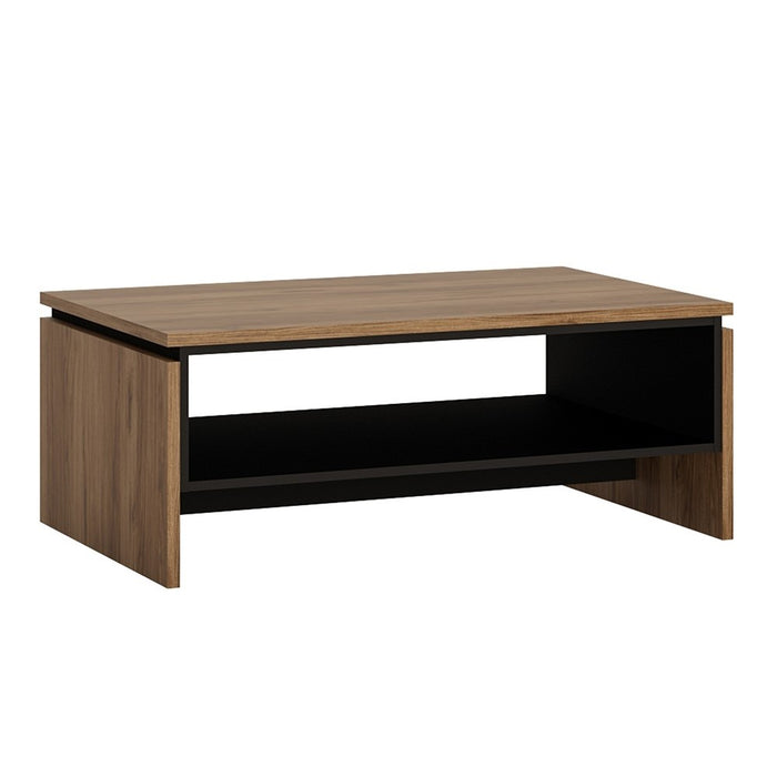 Brogeo Coffee Table - walnut and dark panel finish