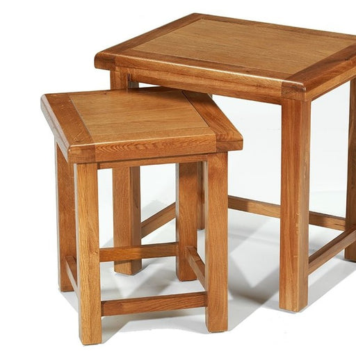 Earlswood Solid Oak Nest Of 2 Tables - The Furniture Mega Store