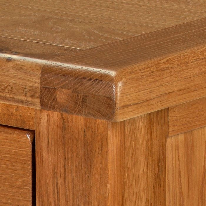 Earlswood Solid Oak Small Hall Table - The Furniture Mega Store