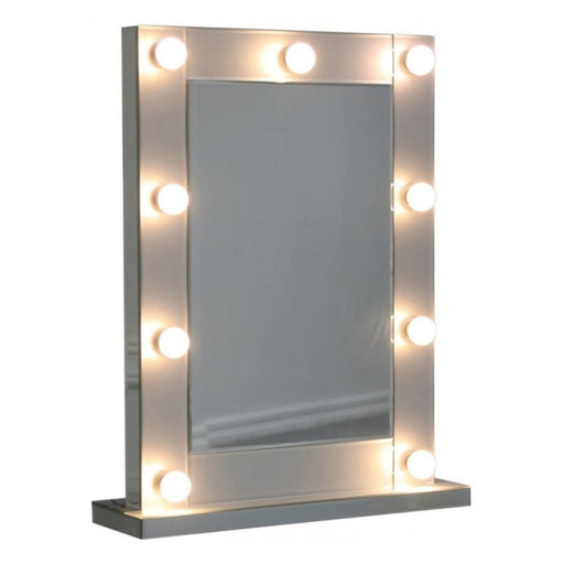 Ivy Grey Mirrored Broadway 9 Light Vanity Mirror - The Furniture Mega Store