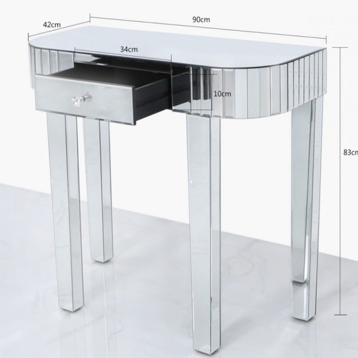 Classic Mirrored Tiled Console Table
