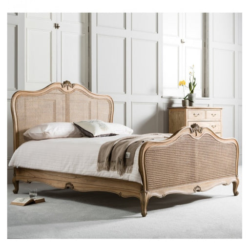 Chic 5' King Size Cane Bed Weathered