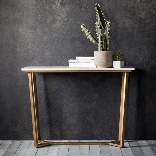 Cleo Console Table Marble - The Furniture Mega Store