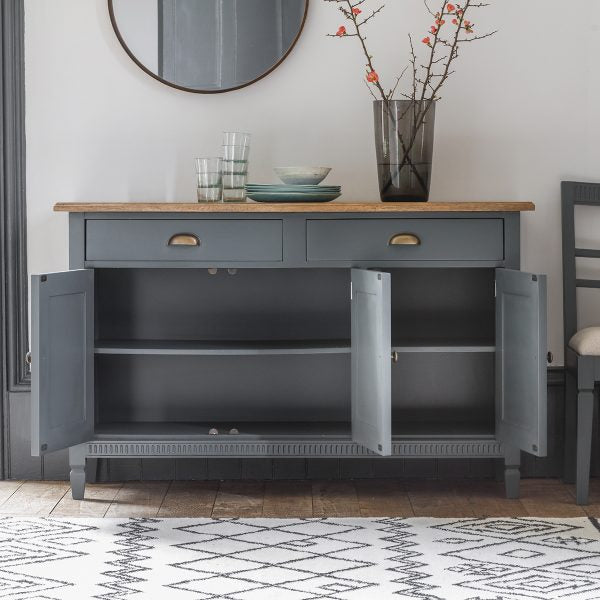 Bronte Storm 3 Door / 2 Drawer Sideboard - The Furniture Mega Store