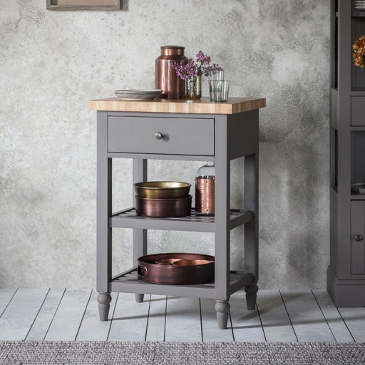 Cookham Butchers Block Grey - The Furniture Mega Store