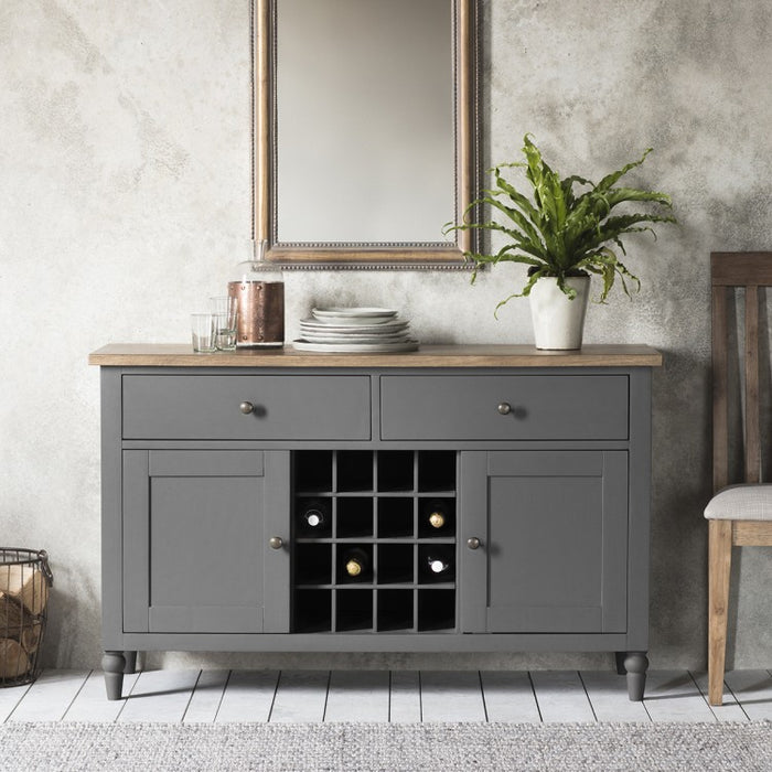 Cookham Large Sideboard With Wine Storage Grey