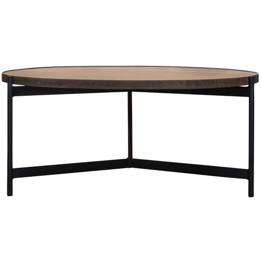 Bari Wooden Top Round Coffee Table - The Furniture Mega Store