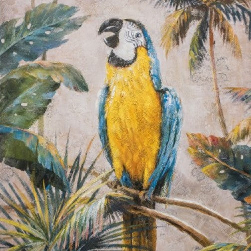 Large Exotic Parrot Wall Art Canvas