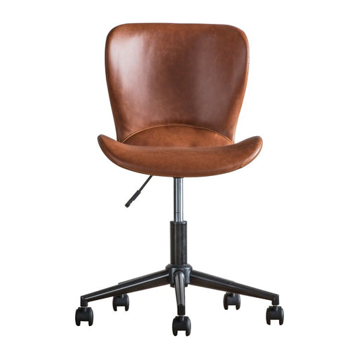 Mendel Swivel Chair Brown Leather