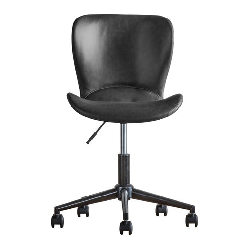 Mendel Swivel Office Chair Charcoal Leather