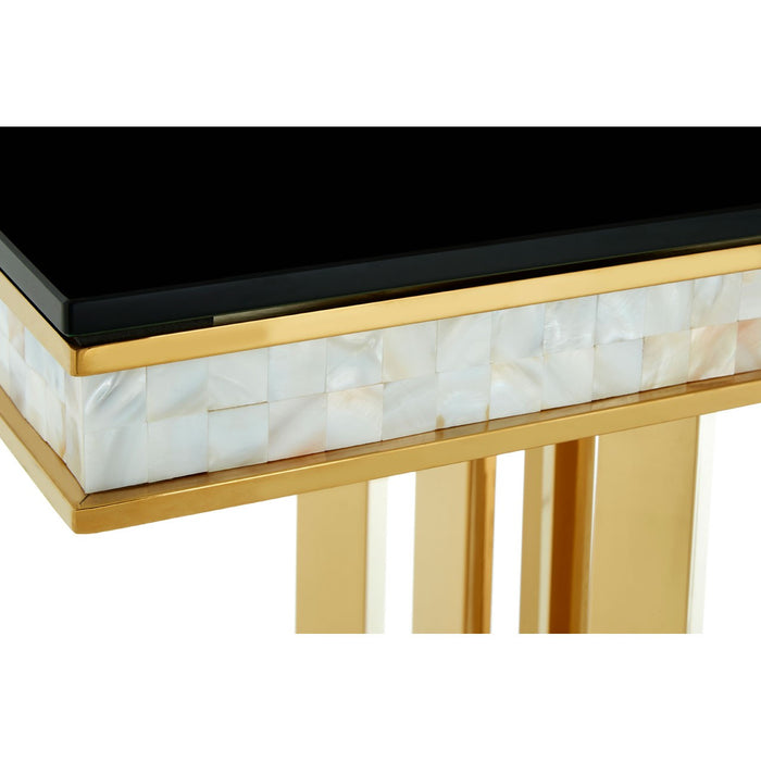 Eliza Gold Finish - Mother of pearl Inlay Console Table
