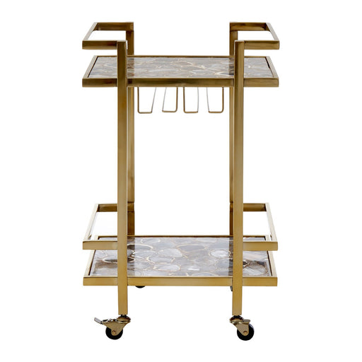 Vita Gold Finish Drinks Trolley