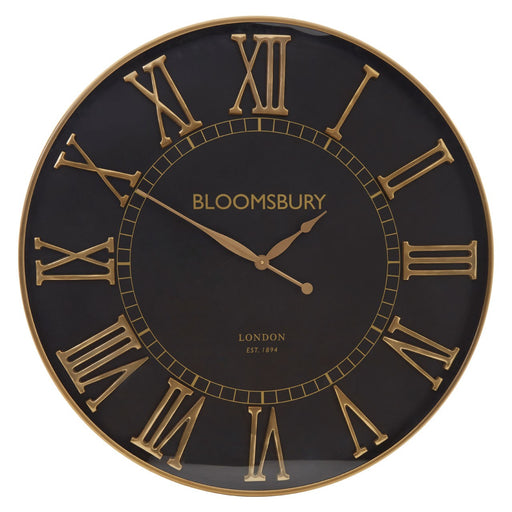 Mateo Large Black Wall Clock
