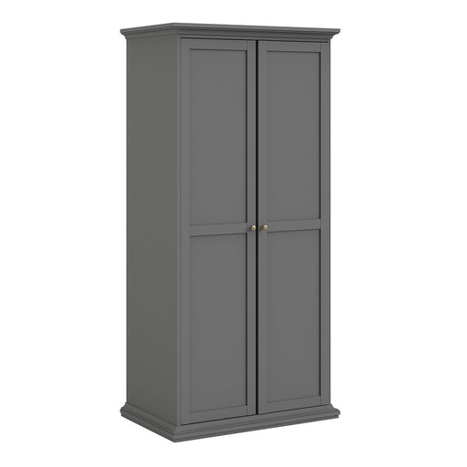 Parisian 2 Door Wardrobe in Matt Grey