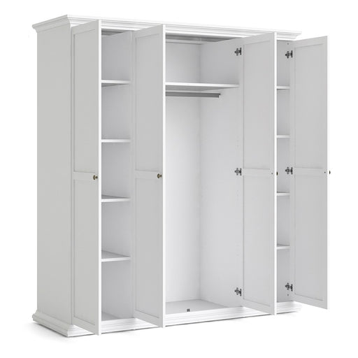 Parisian 4 Door Wardrobe in White
