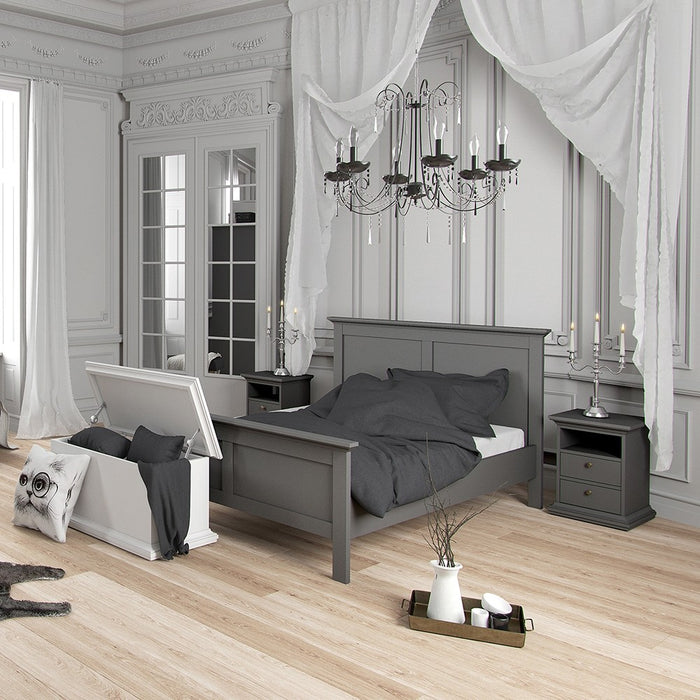 Parisian Double Bed 4ft6 in Matt Grey