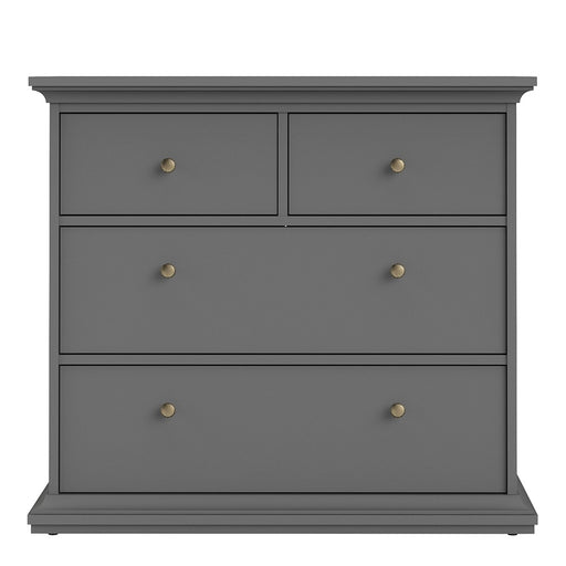 Parisian Chest of 4 Drawers in Matt Grey