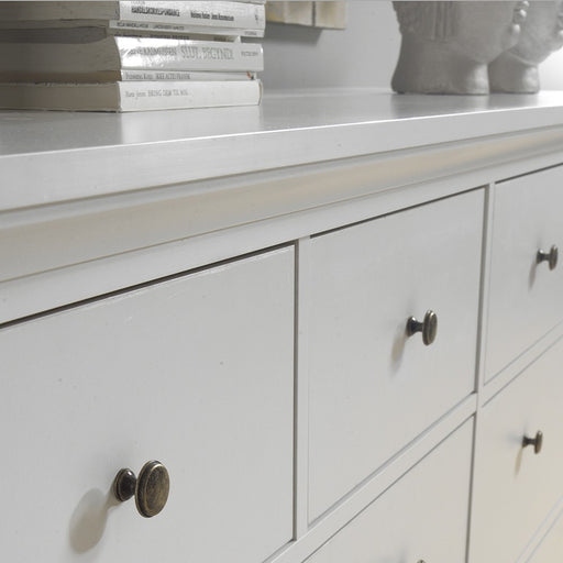 Parisian Chest of 8 Drawers in White - The Furniture Mega Store