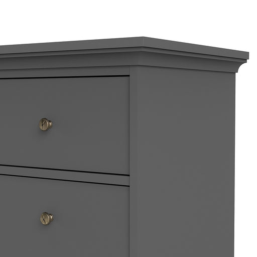 Parisian Chest of 8 Drawers in Matt Grey