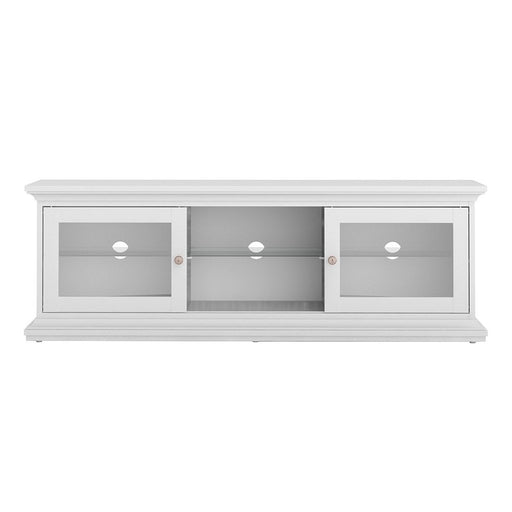 Parisian TV Unit 2 Doors 1 Shelf in White