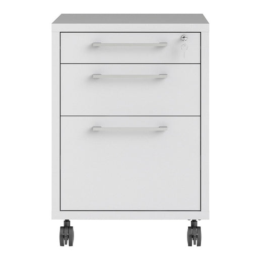 Mobile file cabinet in White