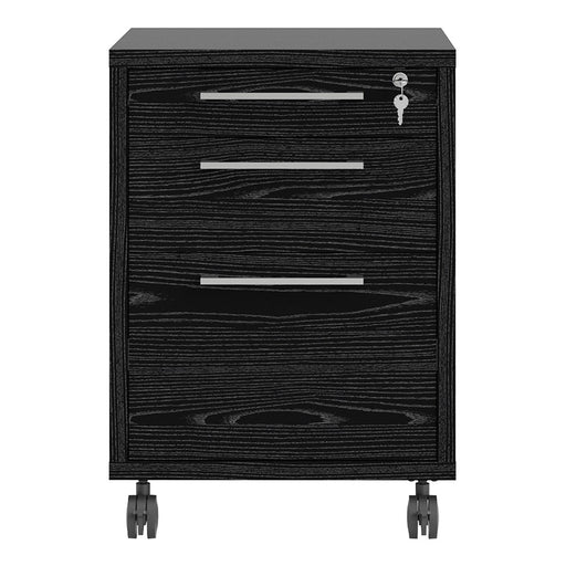 Mobile file cabinet in Black woodgrain