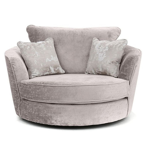 Vesper Fabric Swivel Chair - Choice Of Fabrics - The Furniture Mega Store