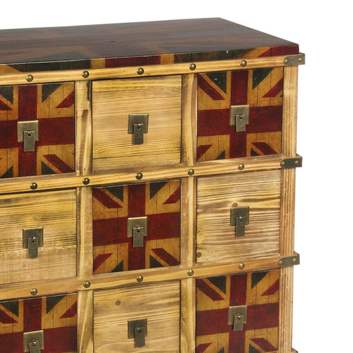 Vintage Union Jack Bank of Drawers - The Furniture Mega Store