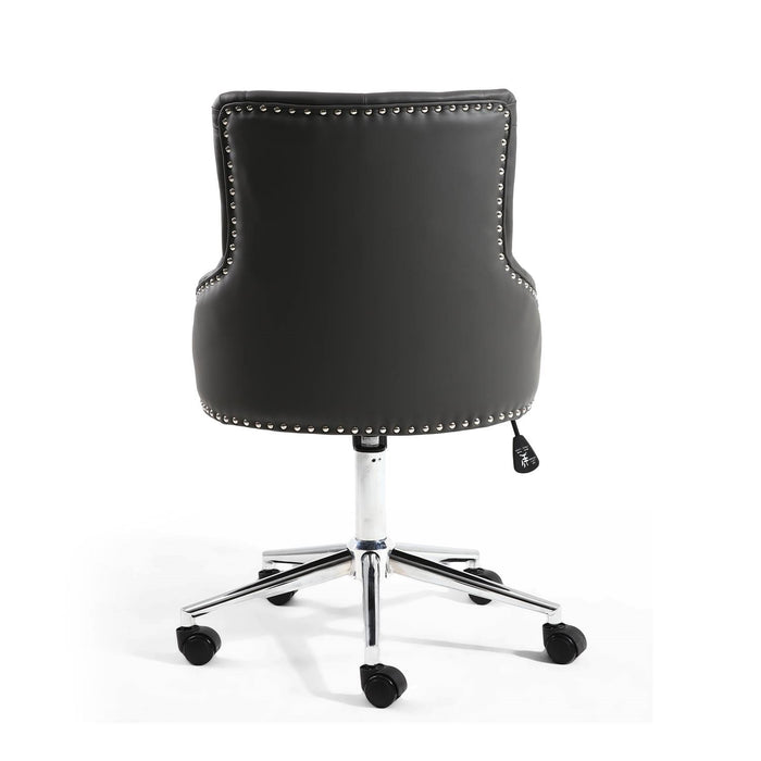 Henley Graphite Grey Faux Leather Office Chair