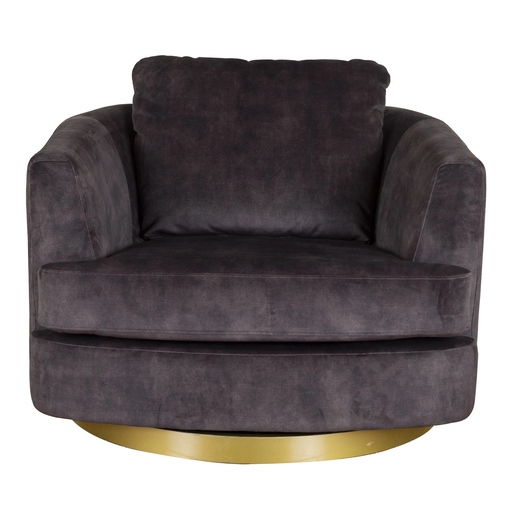 Bond Swivel Chair - Choice Of Fabrics & Chrome Or Gold Base - The Furniture Mega Store
