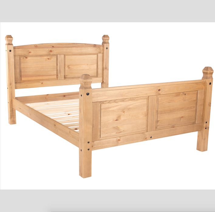 Mexican 4ft 6 High Foot End Pine Bed
