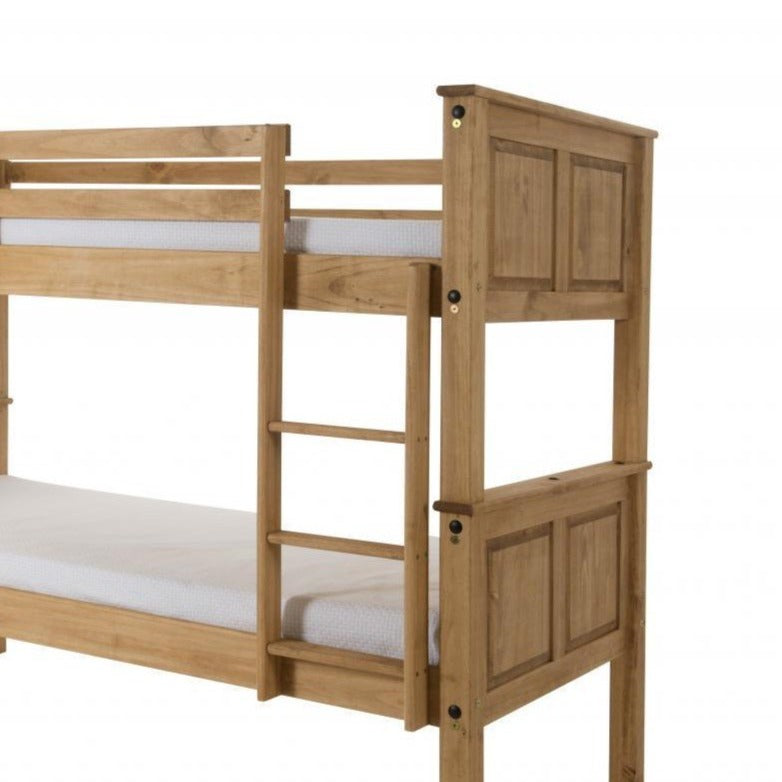 Corona Bunk Bed Distressed Solid Waxed Light Pine