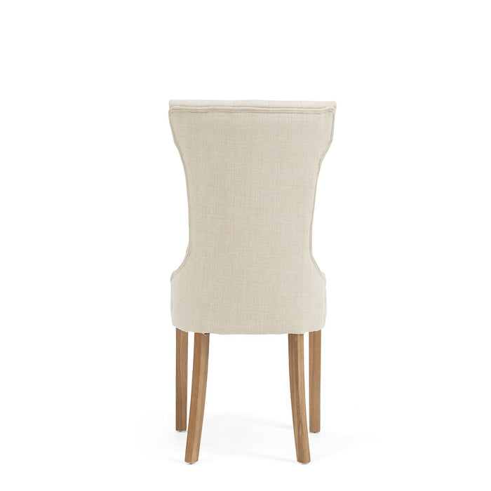 Courtney Cream Fabric Dining Chairs ( set of 2 )