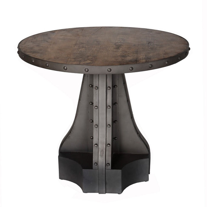 Evoke Iron & Wooden Industrial Round Table